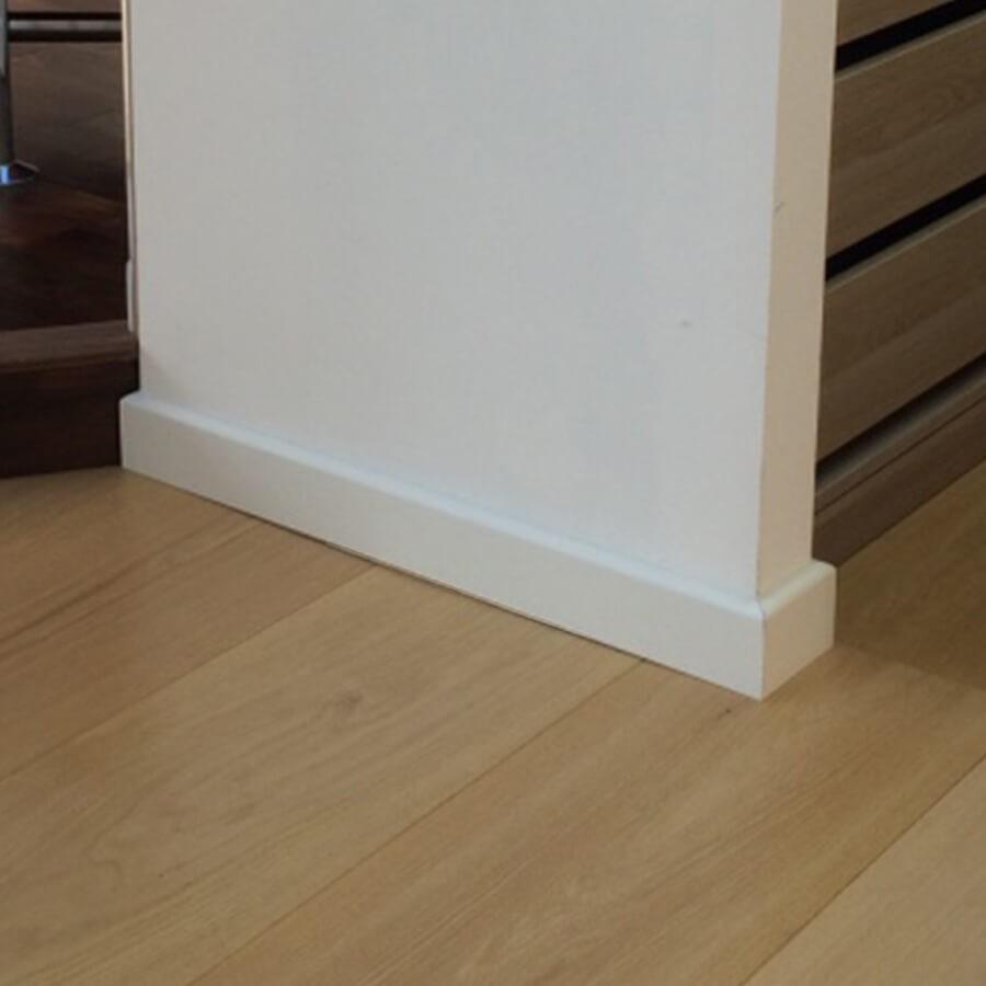 Angle De Plinthe Parquet plinthe blanche eden 80x14x2250 mm